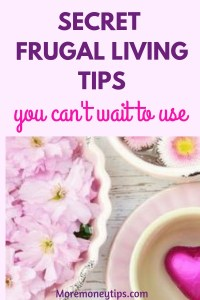 Secret Frugal Living tips you can't wait to use.