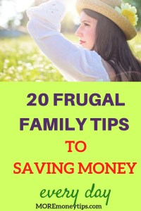 20 frugal family tips to saving money every day