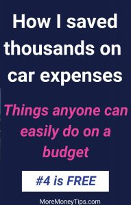 How I saved thousands on car expenses