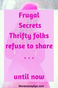 Frugal Secrets Thrifty Folks refuse to share. . .until now