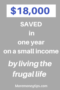 $18,000 saved by living the frugal life