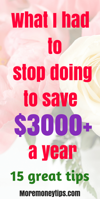 What I stopped doing to save $3000+ a year