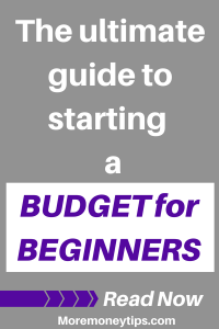 The ultimate Guide to starting a budget for beginners