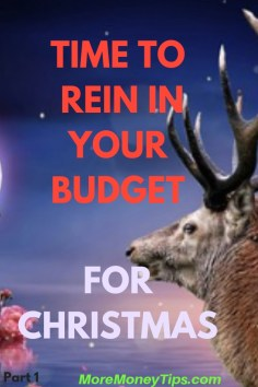 TIME TO REIN IN YOUR BUDGET FOR CHRISTMAS