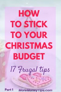 How to stick to your Christmas Budget