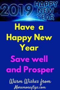 Have a Happy New Year-Save Well and Prosper
