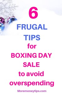 6 Frugal Tips for Boxing Day Sale to avoid overspending