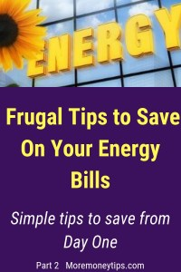 Frugal tips To save On Your Energy Bills