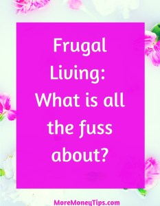 Frugal Living : What is all the fuss about?