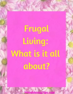 Frugal living: what is it all about?