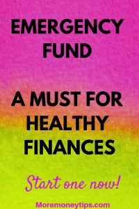 Emergency Fund A Must for healthy finances