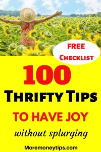 100 Thrifty Tips to have JOY without splurging.