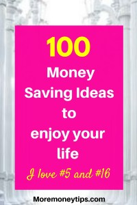 100 money saving ways to enjoy your life