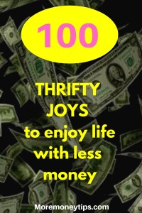 100 thrifty joys to enjoy life with less money.