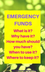 Emergency Funds.
