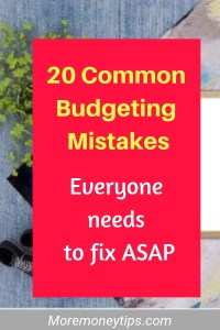 20 common budgeting mistakes