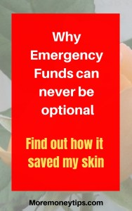 Why emergency funds can never be an option. Find out how it saved my skin.
