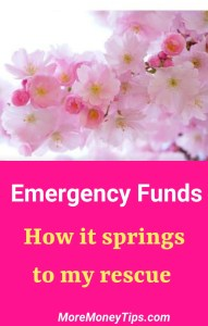 Emergency Funds How it springs to my rescue.