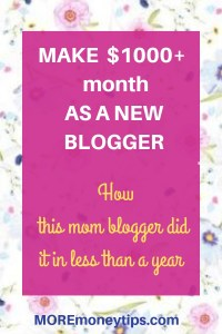 Make $1k month as a new blogger