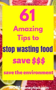 61 Amazing Tips to stop wasting food.