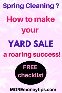 Spring cleaning? How to make your yard sale a roaring success.