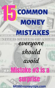 15 common money mistakes everyone should avoid.