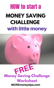 How to start a money saving challenge with little money.