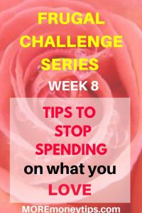 Frugal Challenge Series. Tips to stop spending on what you love.
