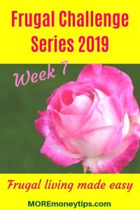 Frugal Challenge Series 2019. Frugal Living made easy.
