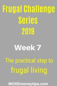 Frugal Challenge Series. The practical step to frugal living.