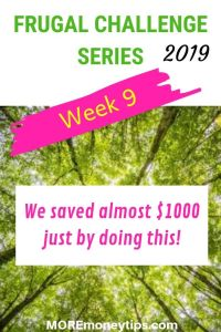 Frugal Challenge Series. Week 9. We saved almost $1000 just by doing this.