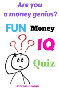 Are you a money genius? Fun Money IQ quiz.