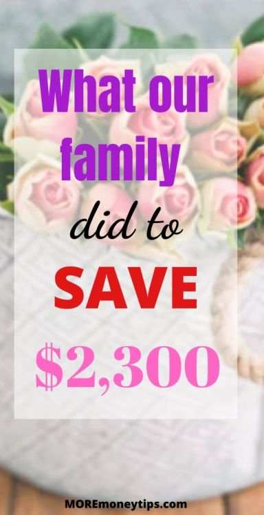 What our family did to save $2,300