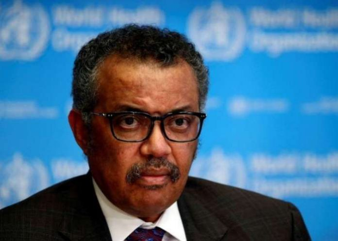 The Director General of the World Health Organization (WHO) Tedros Adhanom Ghebreyesus attends a press conference on the situation of the coronavirus (COVID-2019), in Geneva, Switzerland, on February 28, 2020. REUTERS-Denis Balibouse- File Photo