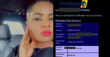 "Man sends lady he has never met lady N300k after she tweeted ""Abuja"""
