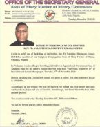 Catholic Priest Abducted By Four Armed Men While Travelling For His Father's Burial