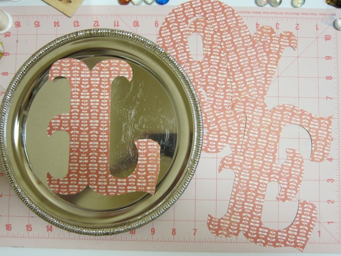 cut paper letters using Silhouette machine DIY father's day gift