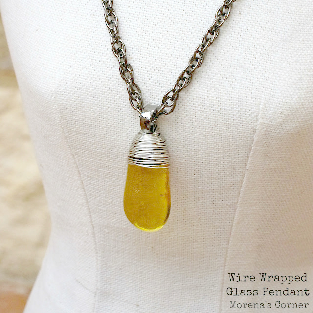 Learn a simple technique to create a wire wrapped pendant, using dollar store stones.