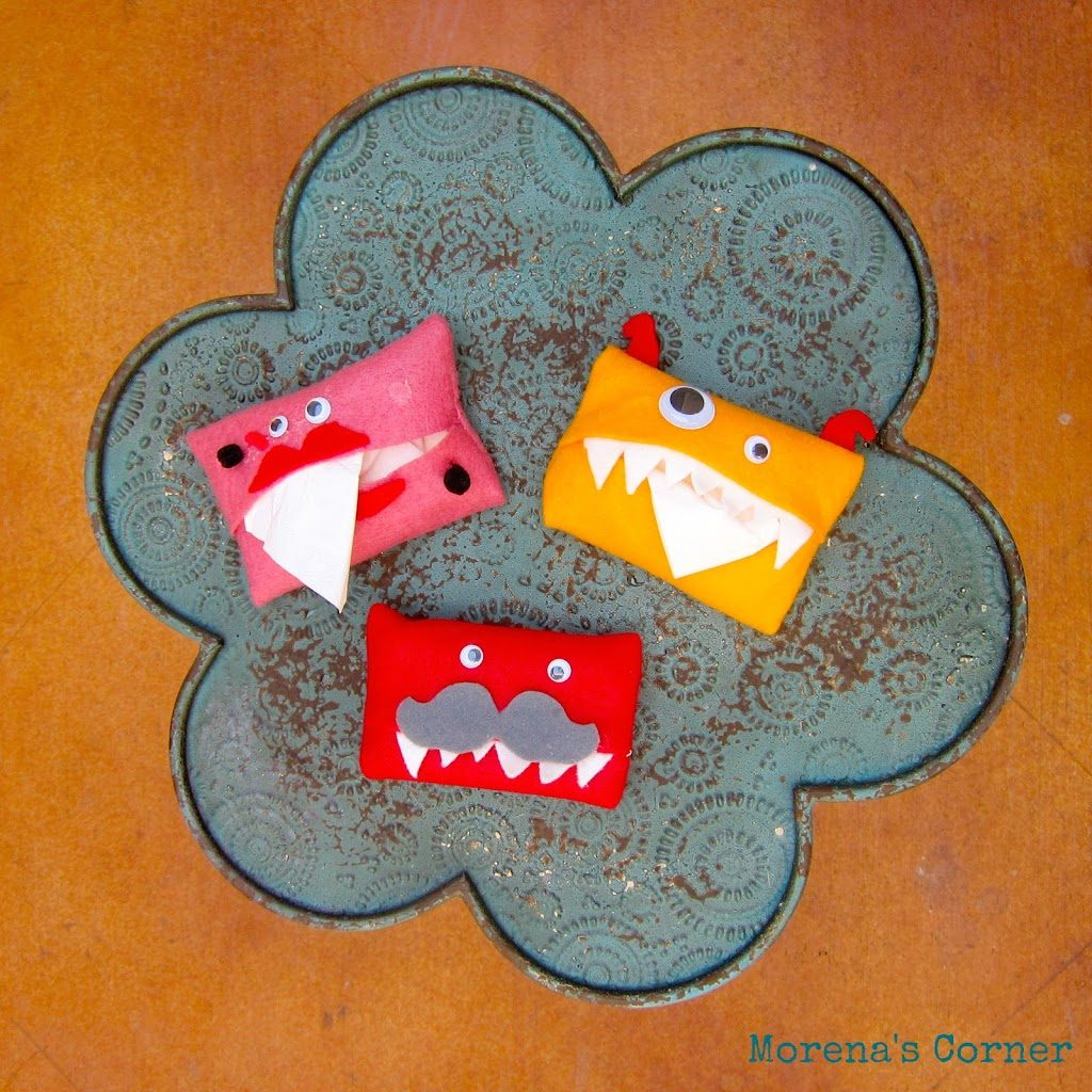 Make Your Own Felt Pocket Tissue Monster - Morena's Corner