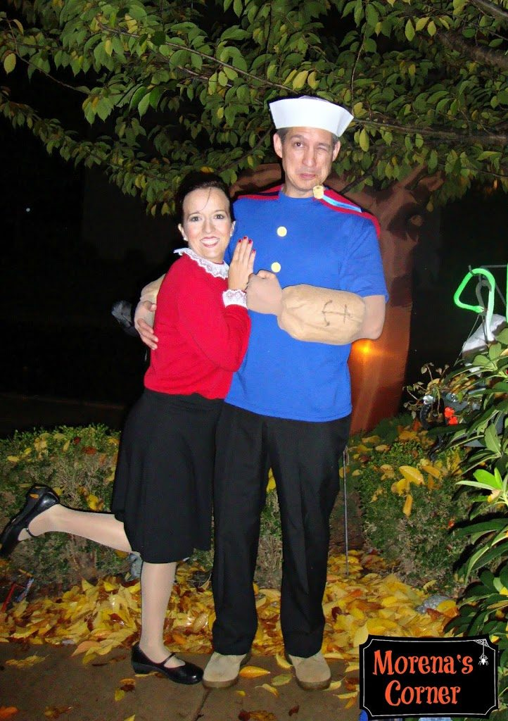 Diy Couples Costume Popeye And Olive Oyl And Swee Pea