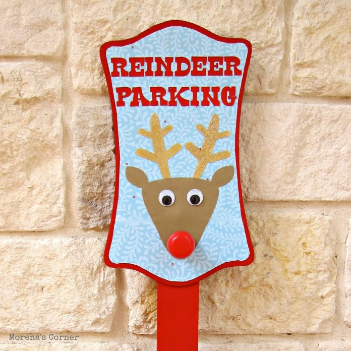 Create a Christmas lawn sign that lights up!  This whimsical, colorful decor piece is easy to make and fun to display.