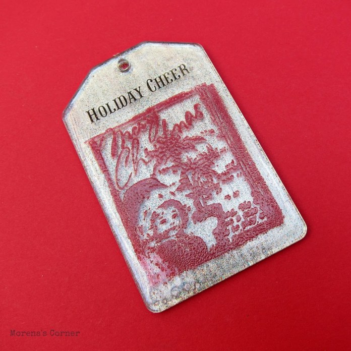 Embossed acrylic Christmas tags