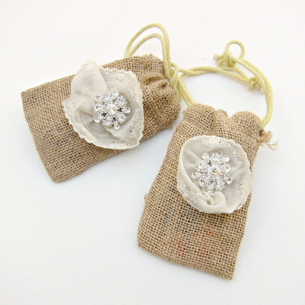 DIY Burlap and Bling Favor Bags - Morena\'s Corner