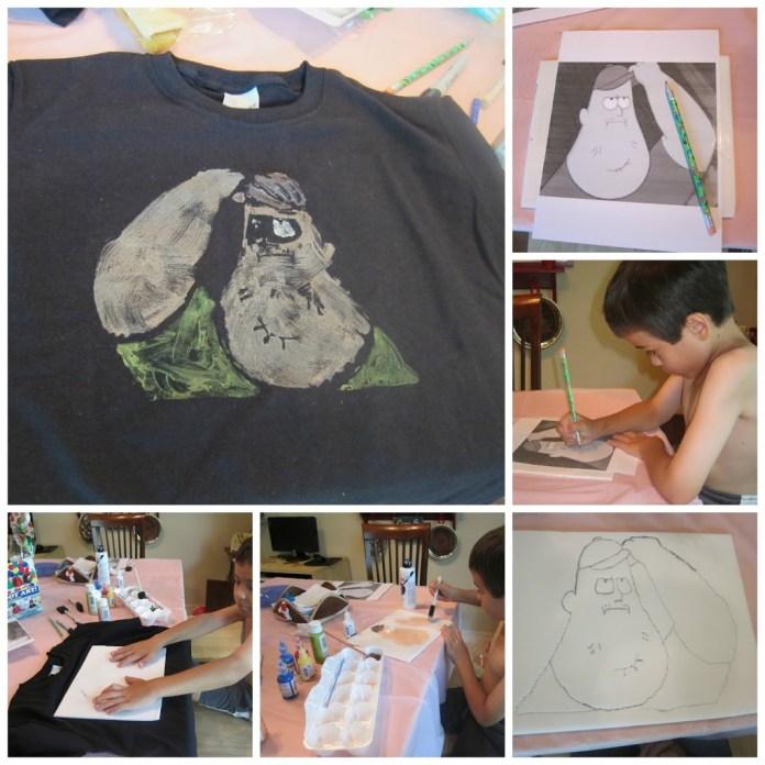 Tshirt-printing-with-kids