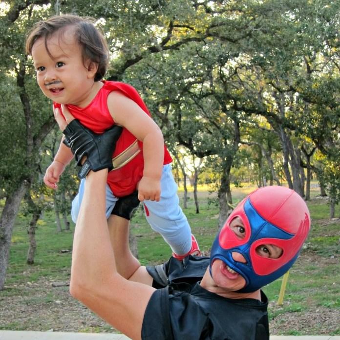 Nacho Libre costume DIY with luchador