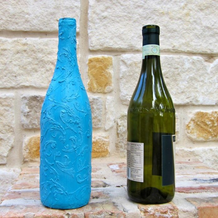 Wine-Bottle-to-Faux-Ceramic