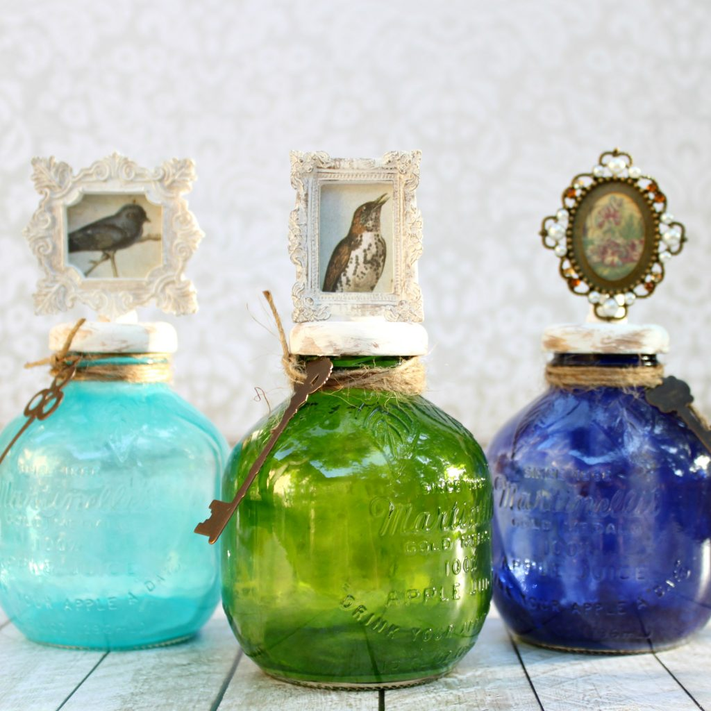 Tinted Glass Bottle Decor Tutorial - Morena's Corner