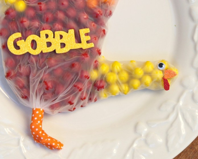 thanksgiving turkey candy favors
