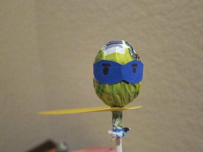 superhero Valentine lollipop