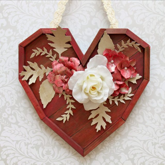 Turn a pallet heart into a beautiful shabby chic piece of wall art.  Learn how to create a paint wash to make this mixed media piece.